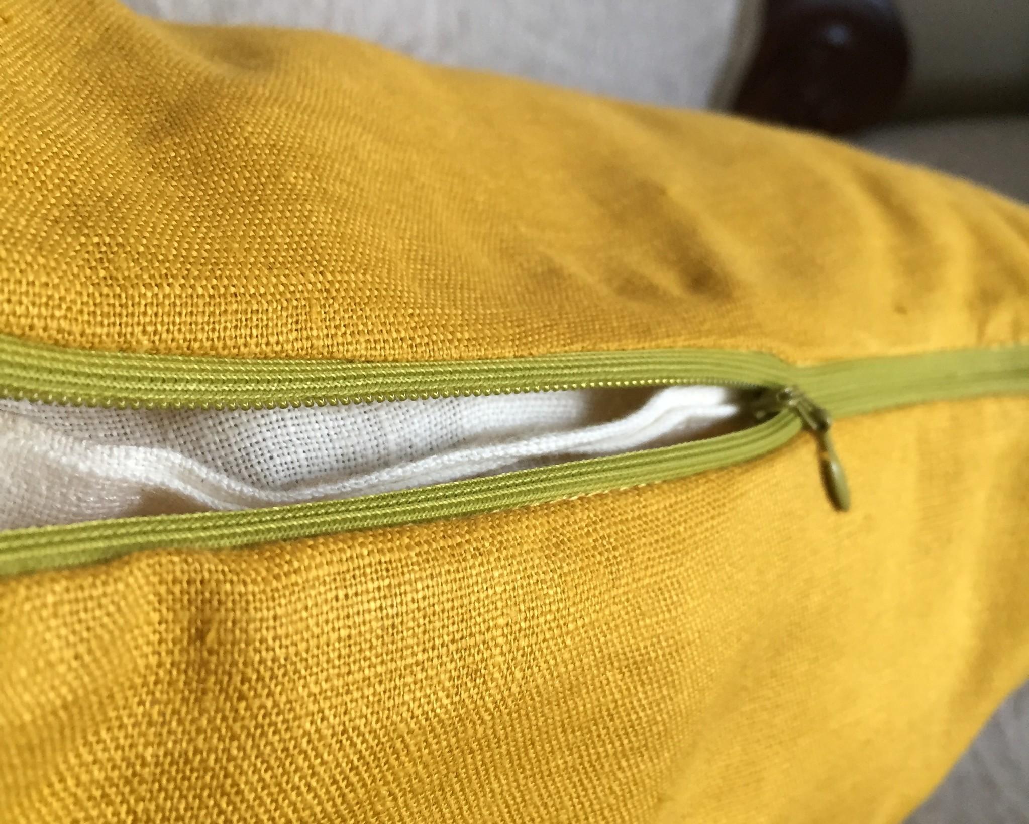 Льняной чехол для декоративной подушки