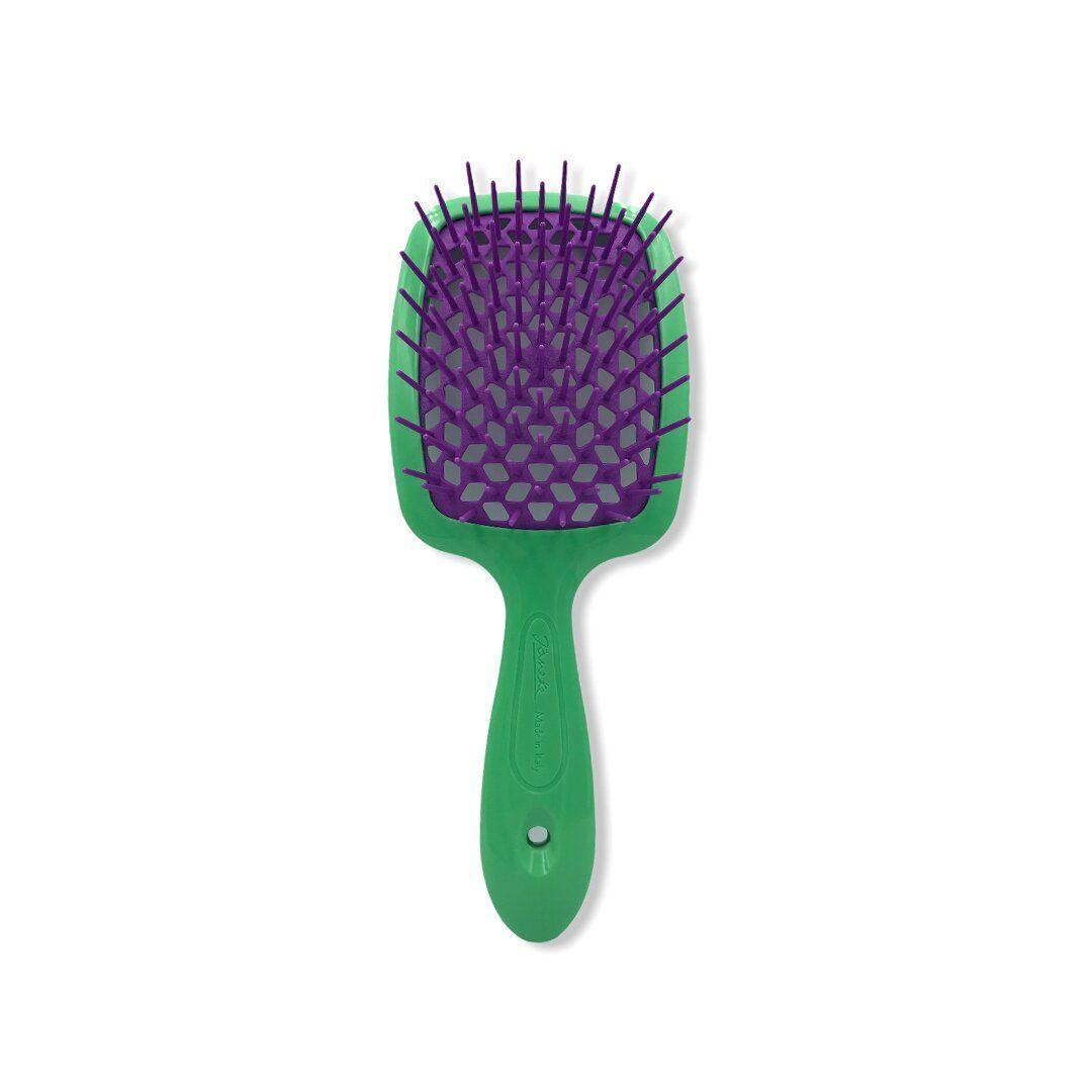 Расческа большая Janeke Superbrush двухцветная 86SP226 (VV - фиолетовый/зеленый)