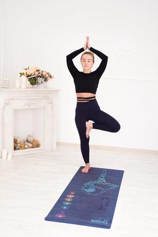Коврик для йоги Harmony 178*61*0,35 см из микрофибры и каучука