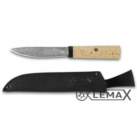 Нож Якутский из дамасской стали