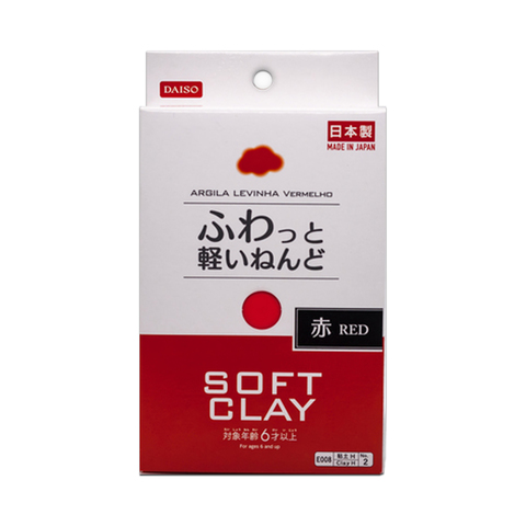 Глина для слаймов Daiso Soft clay (красная, 80 г)