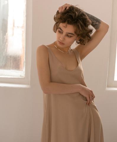 Платье-комбинация ORNATE beige