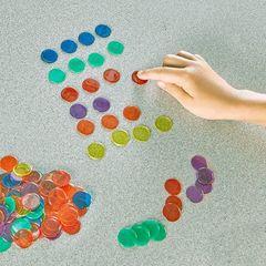 Фишки для счета Прозрачные круги 250 элементов Learning Resources