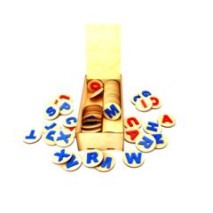 Состав игры Английский алфавит на кружках