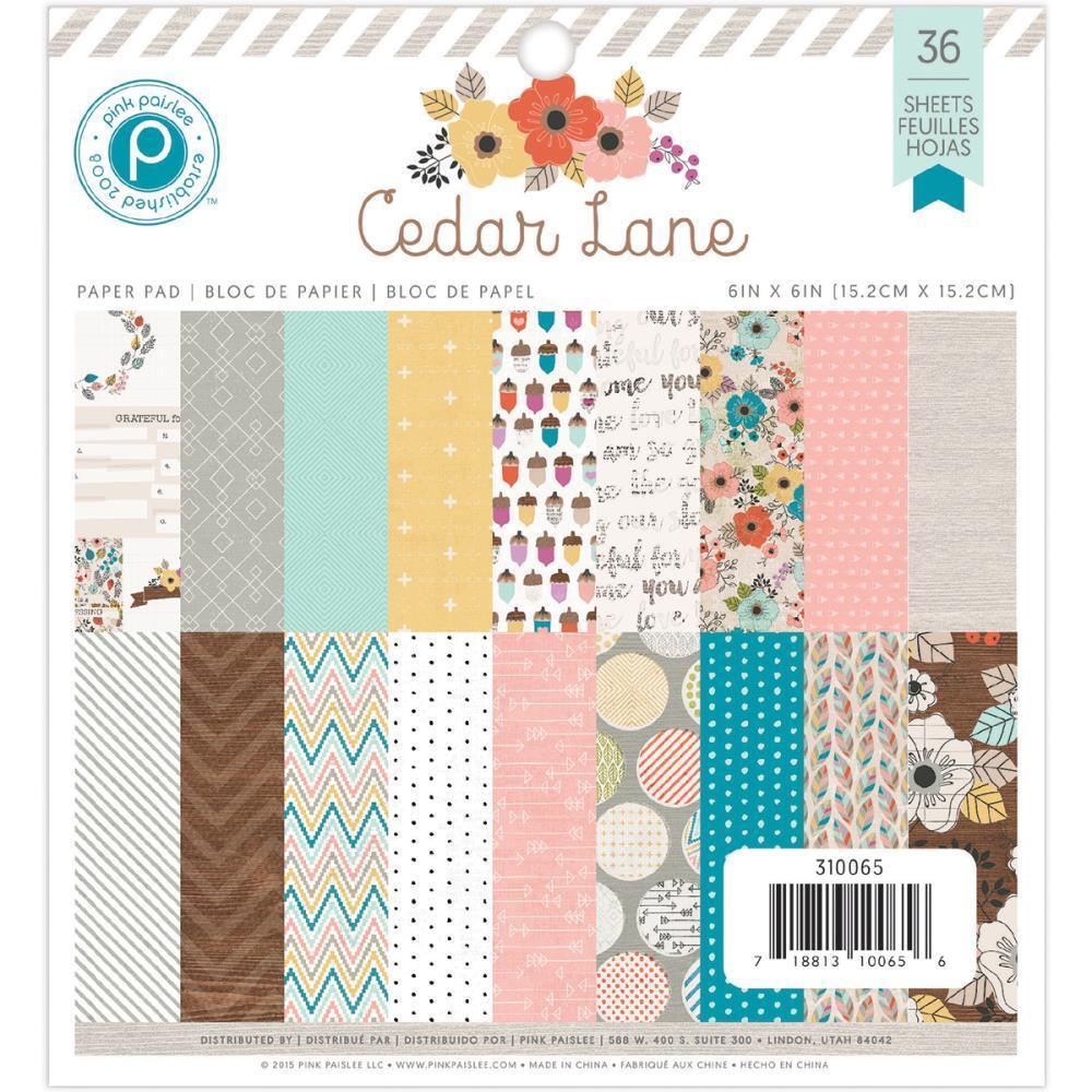 Набор бумаги 15*15 Cedar Lane by Pink Paislee