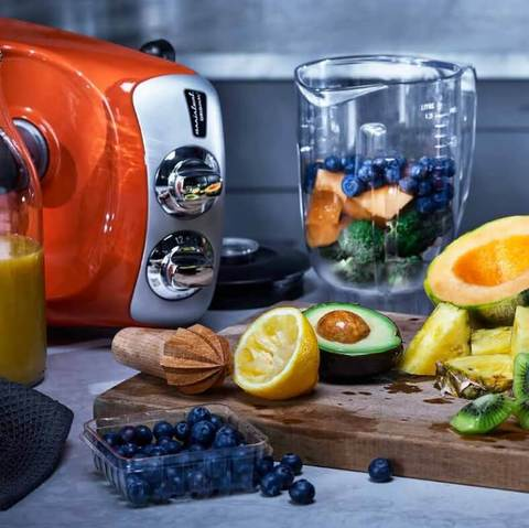 Кухонный комбайн Ankarsrum оранжевый. Фото