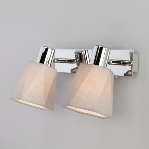 Настенный светильник с выключателем 20087/2 хром/серый