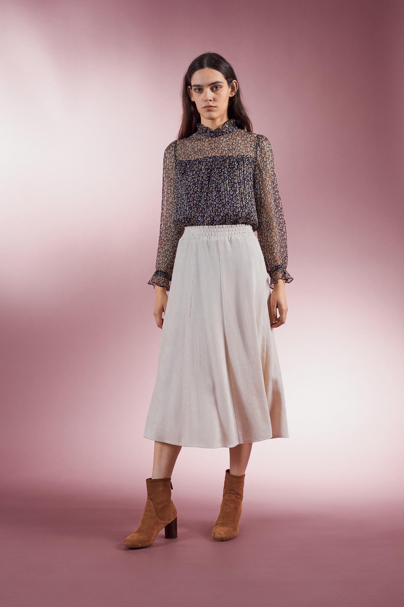 Длинная юбка с поясом на резинке