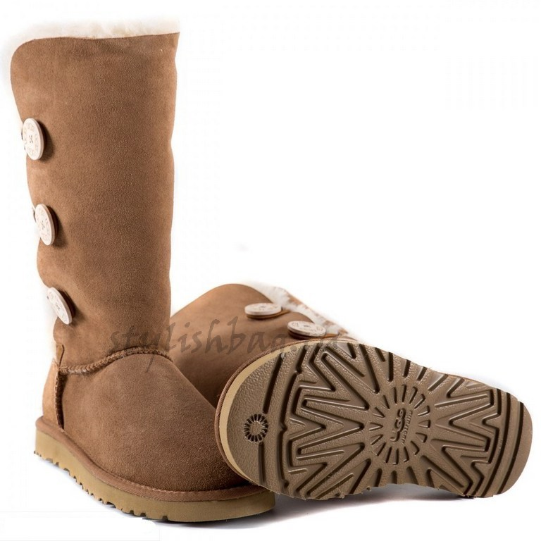 Женские угги UGG Women's Bailey Button Triplet Chestnut