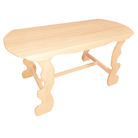 Стол с фигурными ножками разборный 140х63х73 см