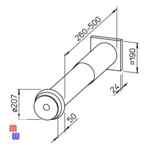 Приточный клапан ZLA 160 Helios