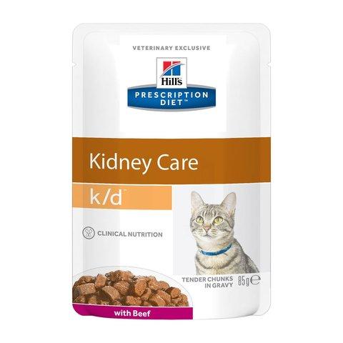 Hill's K/D пауч для кошек лечение заболеваний почек (говядина) 85г