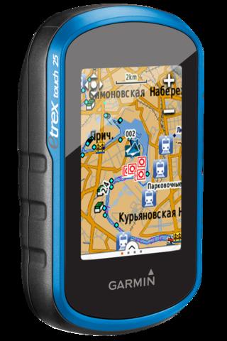 Навигатор портативный Garmin eTrex Touch 25 с цветным сенсорным экраном, приемником GPS/GLONASS и 3-осевым компасом (010-01325-03)