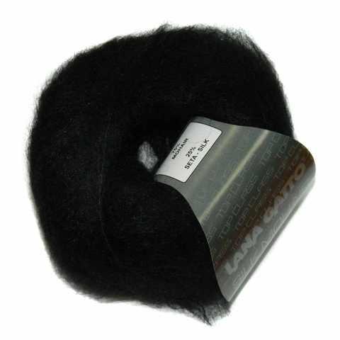 Пряжа Lana Gatto Silk Mohair 6037 черный