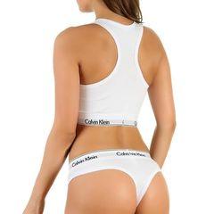Женский комплект белый топ и стринги Calvin Klein Women White