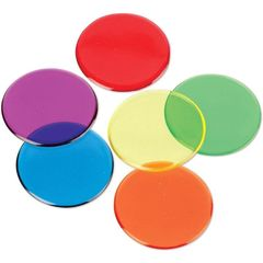 Фишки для счета Прозрачные круги (250 элементов)