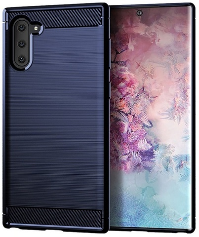 Чехол Samsung Galaxy Note 10 цвет Blue (синий), серия Carbon, Caseport