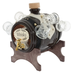 Диспенсер для напитков «Whisky» с рюмками, 2 л, фото 1