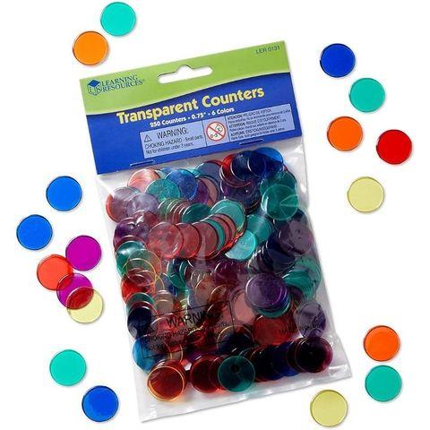 Фишки для счета Прозрачные круги (250 элементов) Learning Resources, арт. LER0131