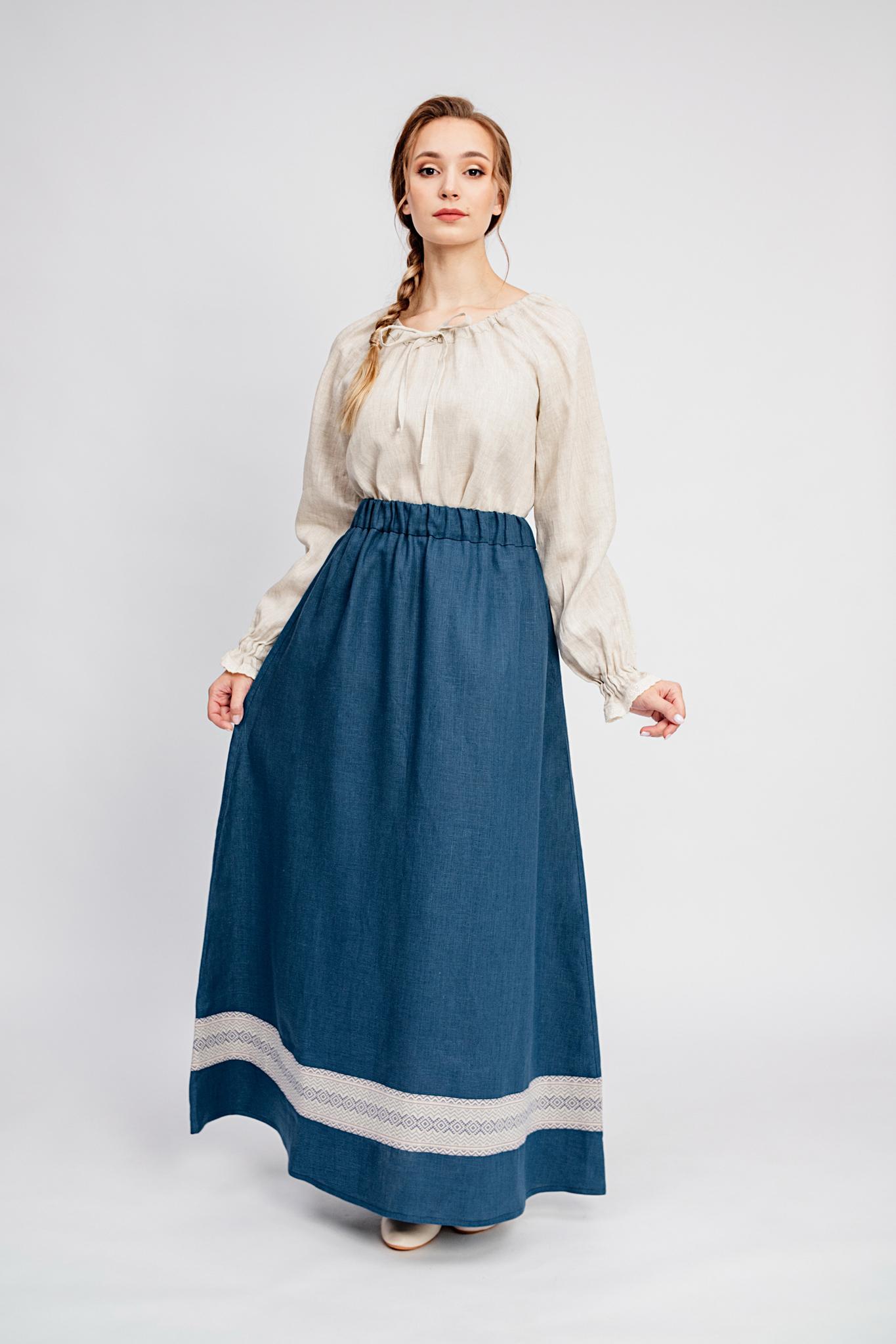 Русская народная юбка Черника