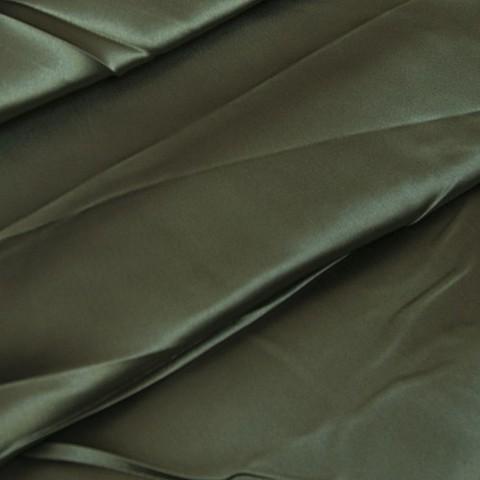Шелк искусственный 100% полиэстер 220 см цвет темно-зеленый