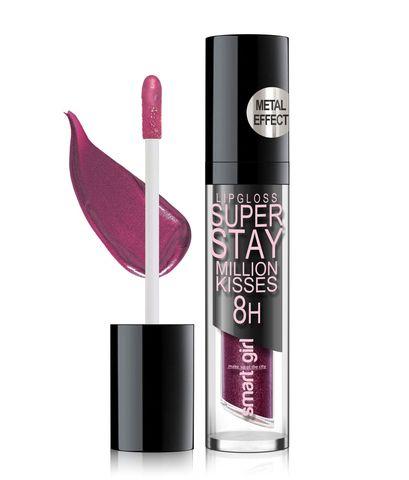 Супер стойкий блеск для губ Smart girl Million kisses тон 215 с металлическим эффектом