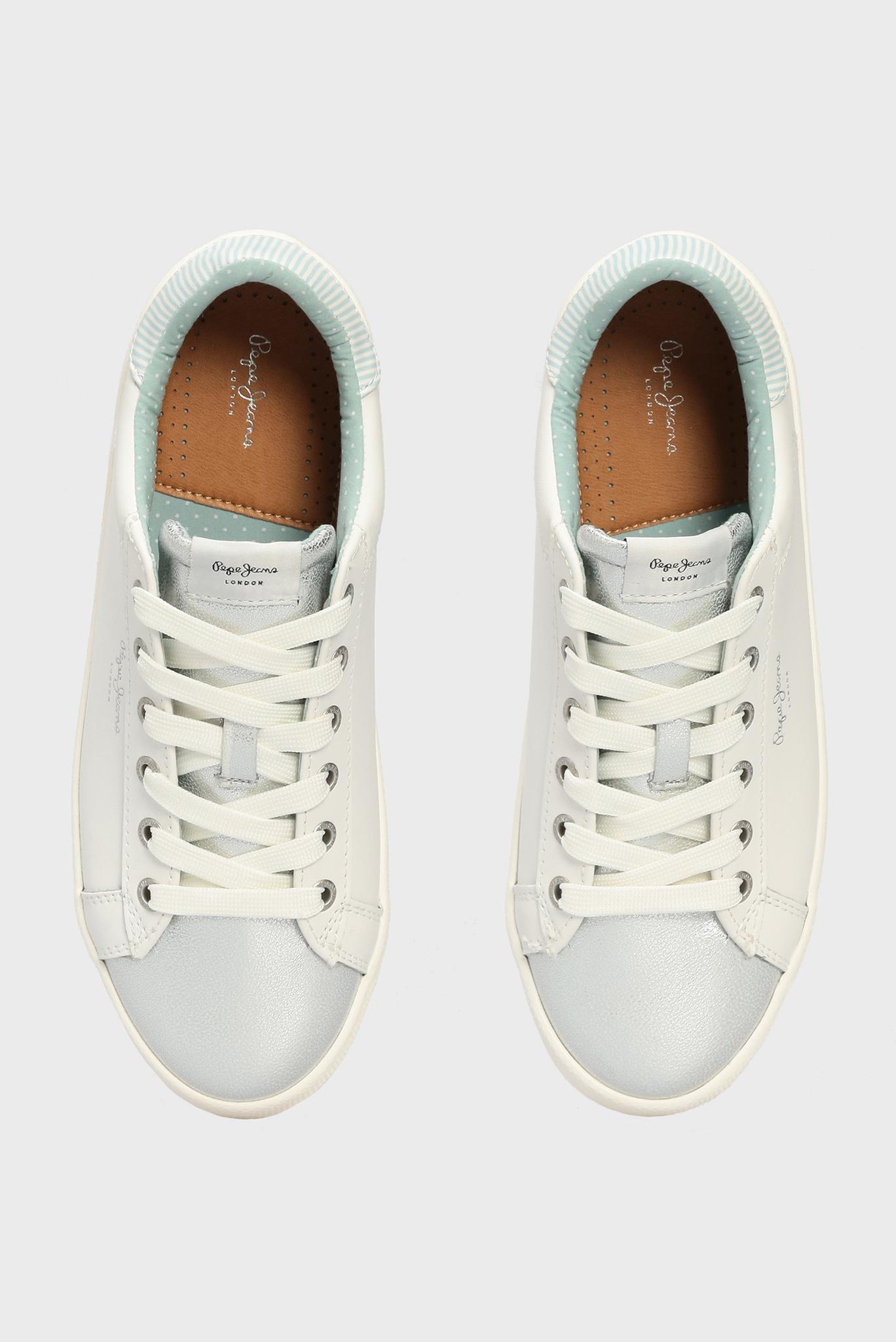 Женские белые кожаные сникеры KIOTO ONE Pepe Jeans