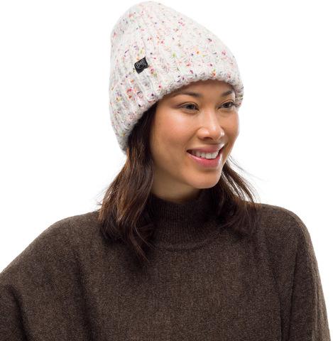 Шапка вязаная с флисом Buff Hat Knitted Polar Kim White фото 2