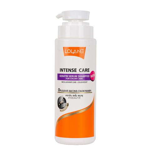 Натуральный шампунь для сохранения цвета волос Lolane Natura Keratin Serum Shampoo For Color Care 400 мл.