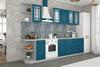 Модульный кухонный гарнитур «Гранд» 2400мм (Синий), ЛДСП/МДФ, ДСВ Мебель