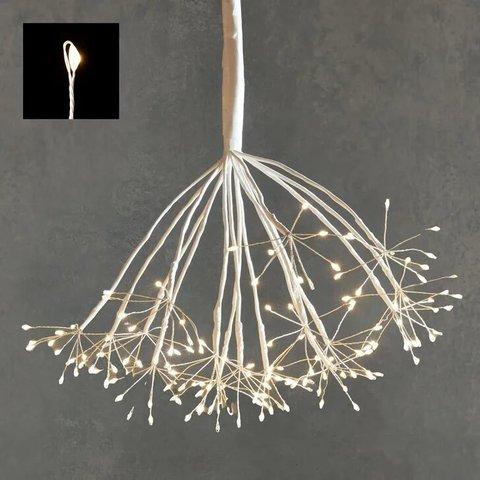 Подвесной одуванчик с мерцающими лампами теплого белого света, для наружного и внутреннего использования