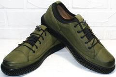 Повседневные туфли мужские под джинсы Luciano Bellini C2801 Nb Khaki.