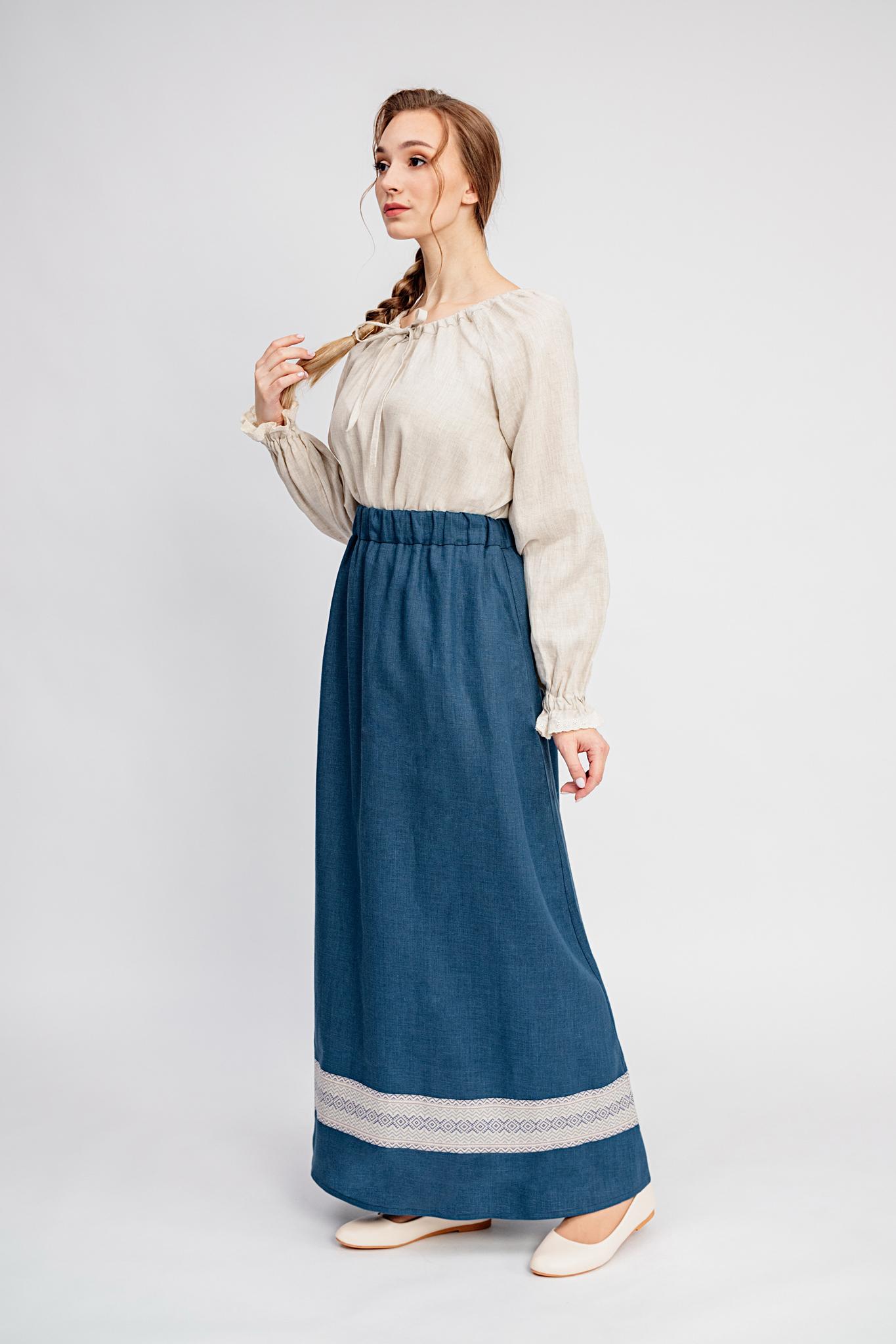 Синяя юбка Черника