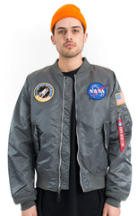 Бомбер Alpha Industries L-2B NASA Gun Metal (Серый)