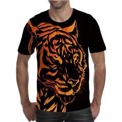 Футболка 3D принт, Тигр (3Д Tiger) 07