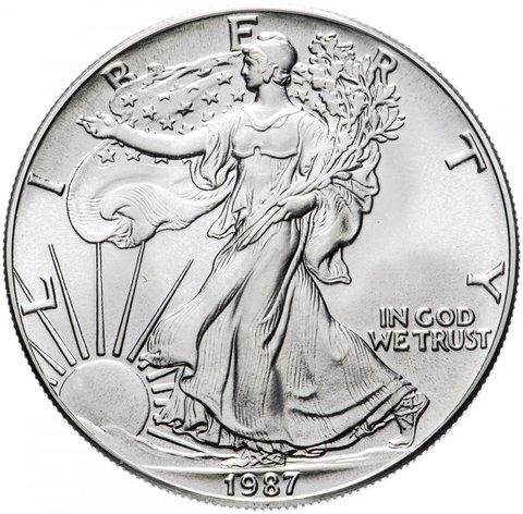 1 доллар США 1987 год (Шагающая свобода)
