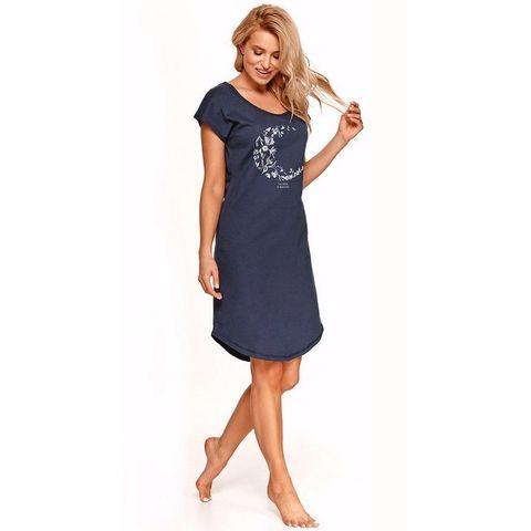Домашняя сорочка Agnes синяя