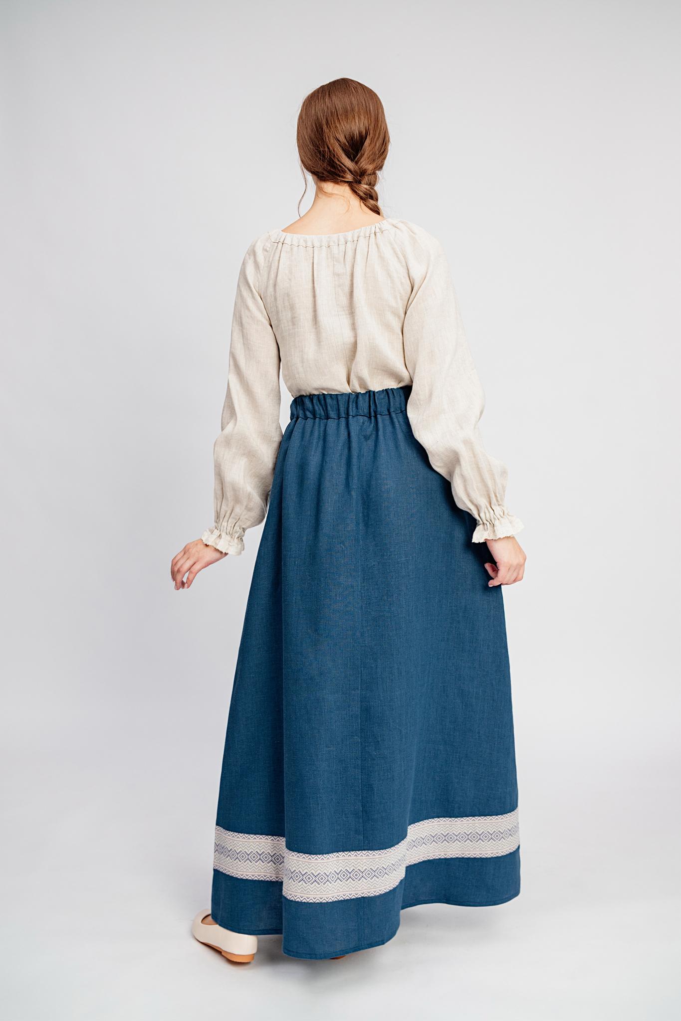 Тёмно-синяя юбка Черника