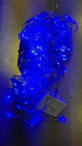 Гирлянда нить домашняя 12м 180LED синий