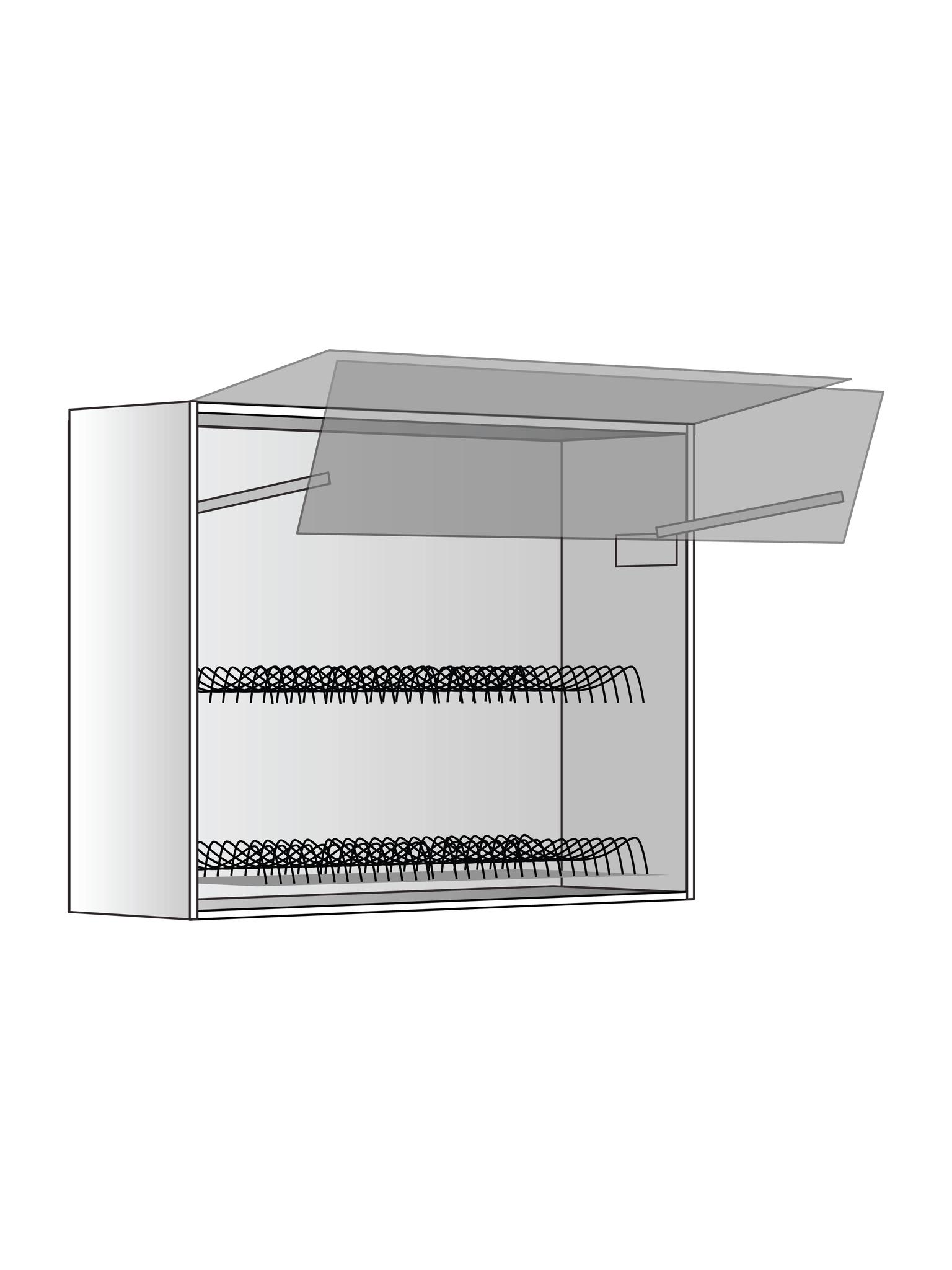 Верхний шкаф c сушилкой и подъемником, 720Х900 мм