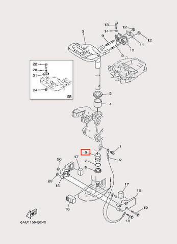 Втулка для лодочного мотора F9,9 Sea-PRO (22-6)