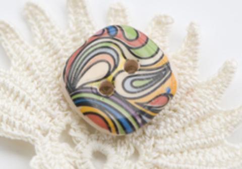 Пуговица керамическая