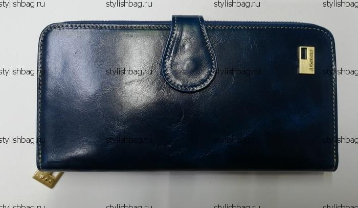 Синий женский кошелек из кожи JCCS j-1032