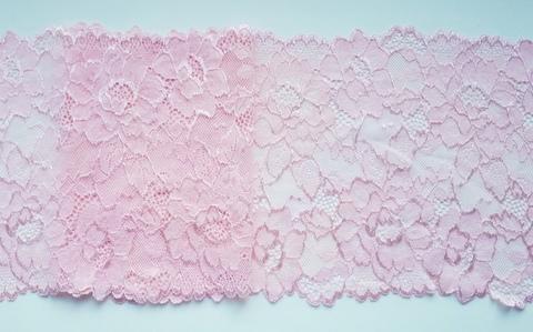 Эластичное кружево, нежно-розовый, 19 см