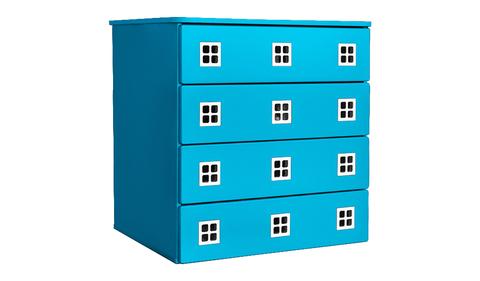 Комод для детской комнаты голубой