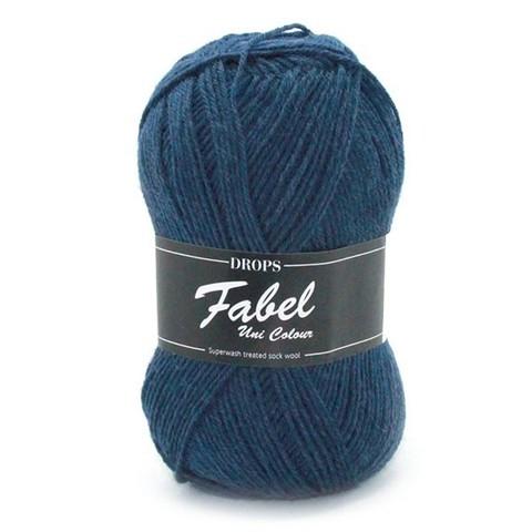 Пряжа Drops Fabel 107 синий