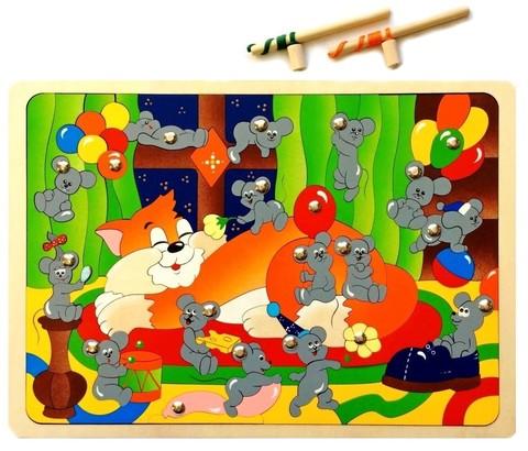 Магнитная мозаика-рыбалка Мышиная охота, Крона, арт. 143-046