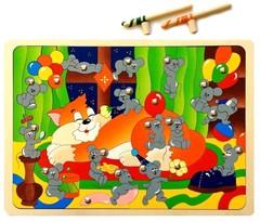 Магнитная мозаика Мышиная охота Крона, арт. 143-046