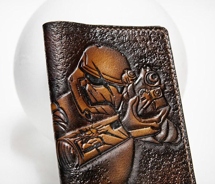 BC229 Кожаная обложка на паспорт «Штурмовик» («Звездные Войны») фото 02
