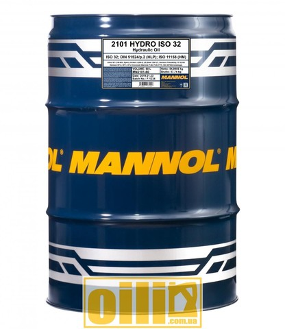 Mannol 2101 HYDRO ISO 32 60л